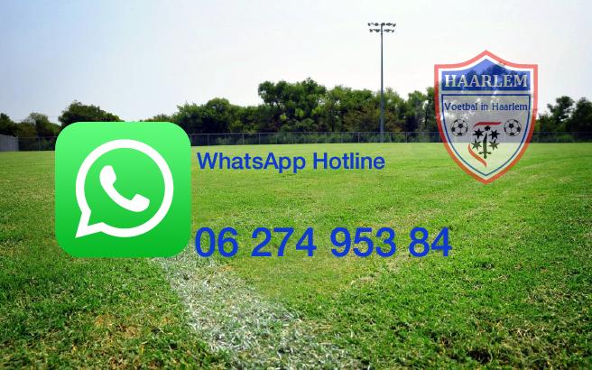 Whatsapp Hotline - Voetbal in Haarlem