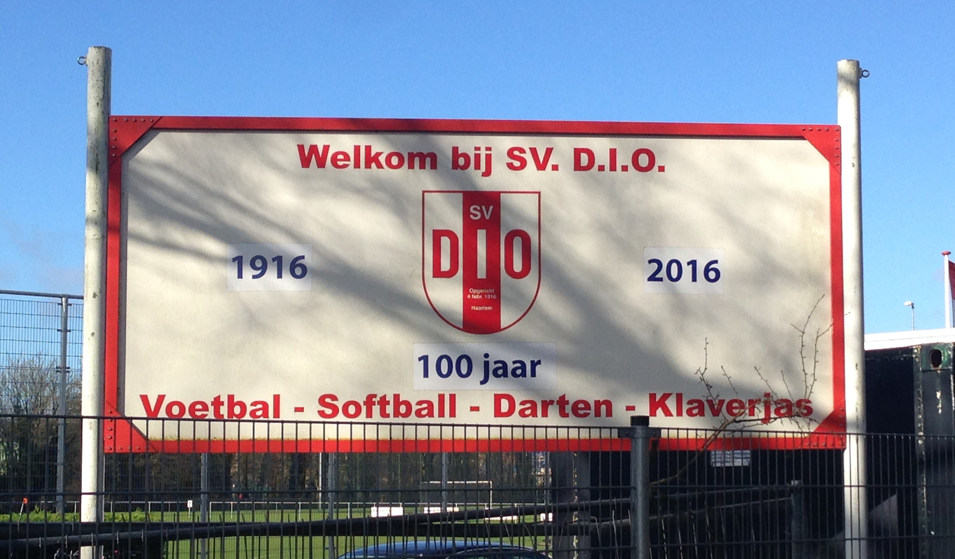 DIO bord - Voetbal in Haarlem