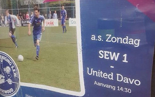 SEW - United/DAVO - Voetbal in Haarlem