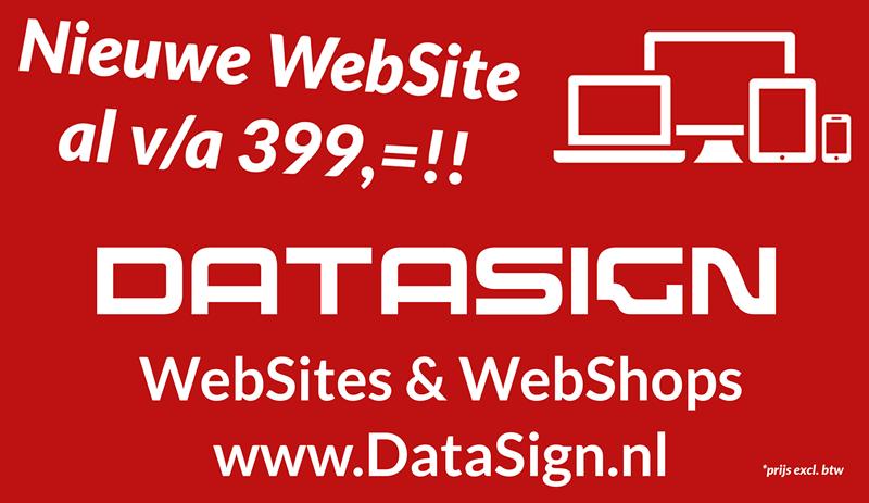 Datasign Websites & Webshops al vanaf €399,-