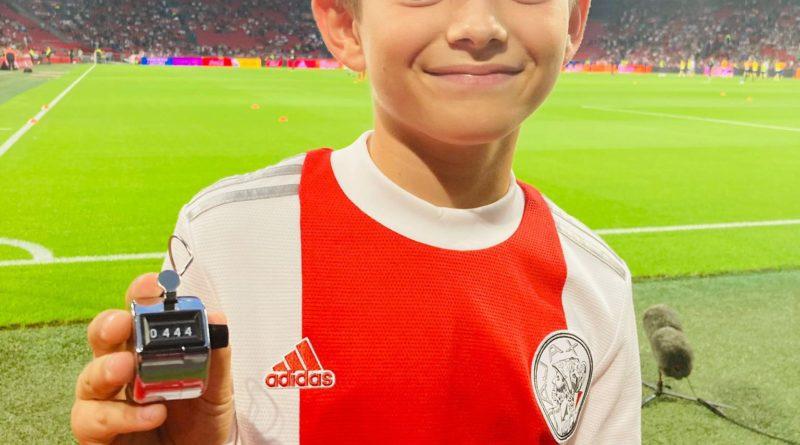 Ajax-talent Mans Jonkers (10 jaar ) pakt 1e plaats hooghouden, ex-HFC'er eindigt op 444 keer